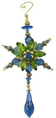 peacock-starburst-dangle ornament.  Have framework for ornaments; need to remember to put dangle on bottom.