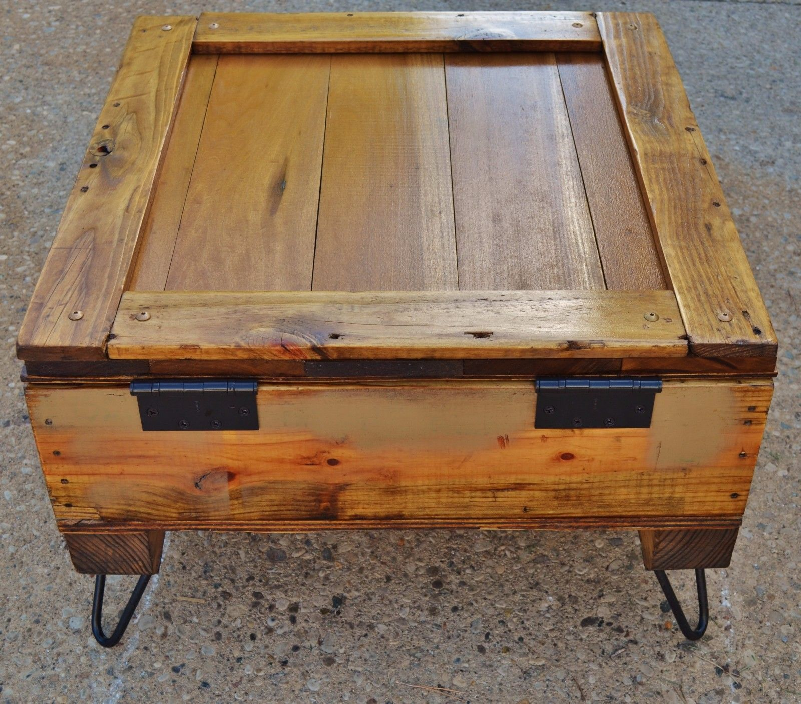 repurposed upcycled shipping crate rustic coffee table storage home garden furniture tables