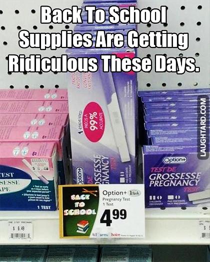 School Supplies Funny