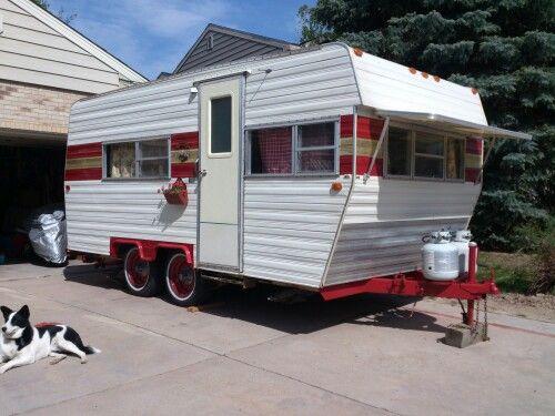 Just Redid My 1980 Front Range Camper Trying To Make It Look Vintage Remodeled Campers Vintage Camper Vintage Trailers