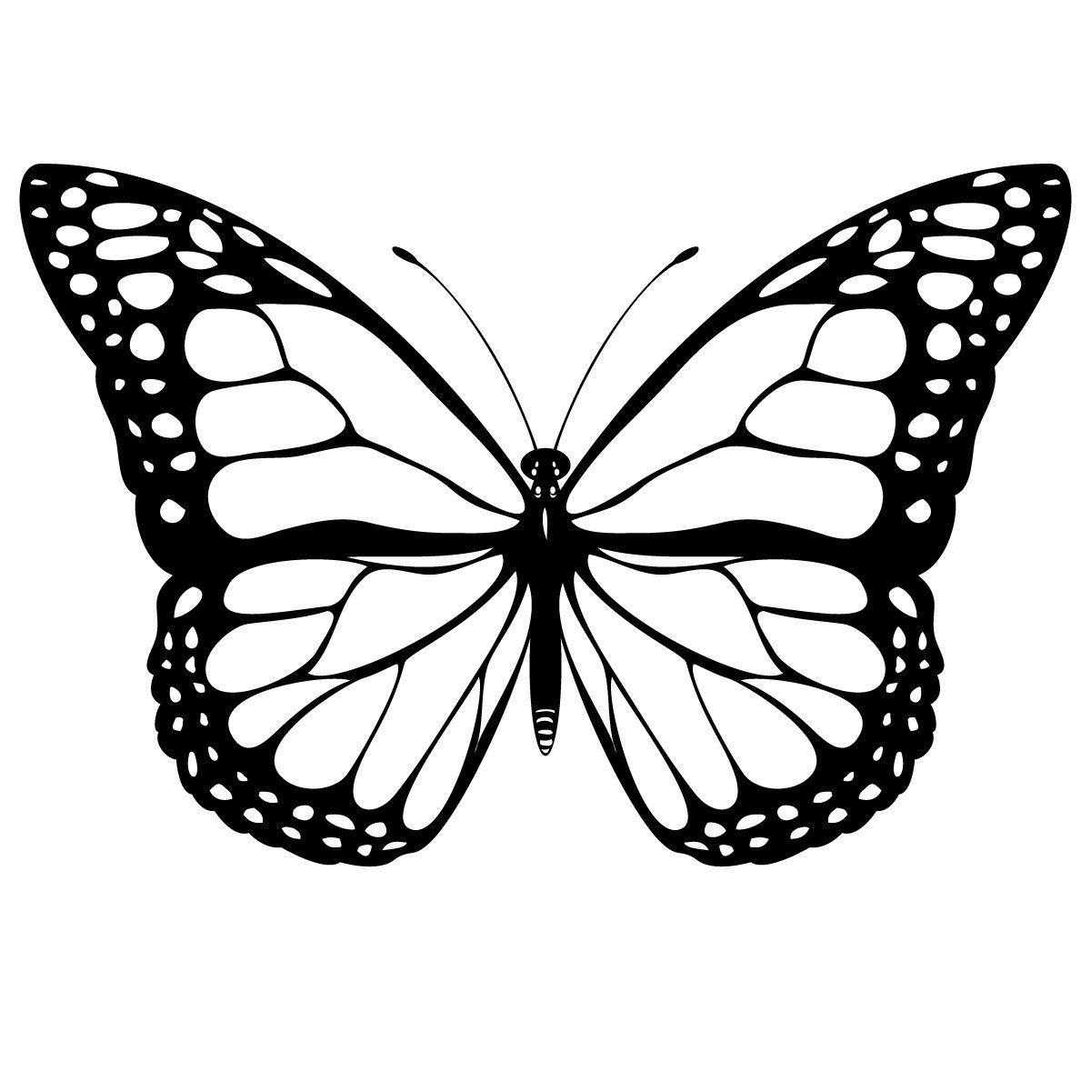 Free Printable Butterfly Coloring Pages For Kids Butterfly Clip