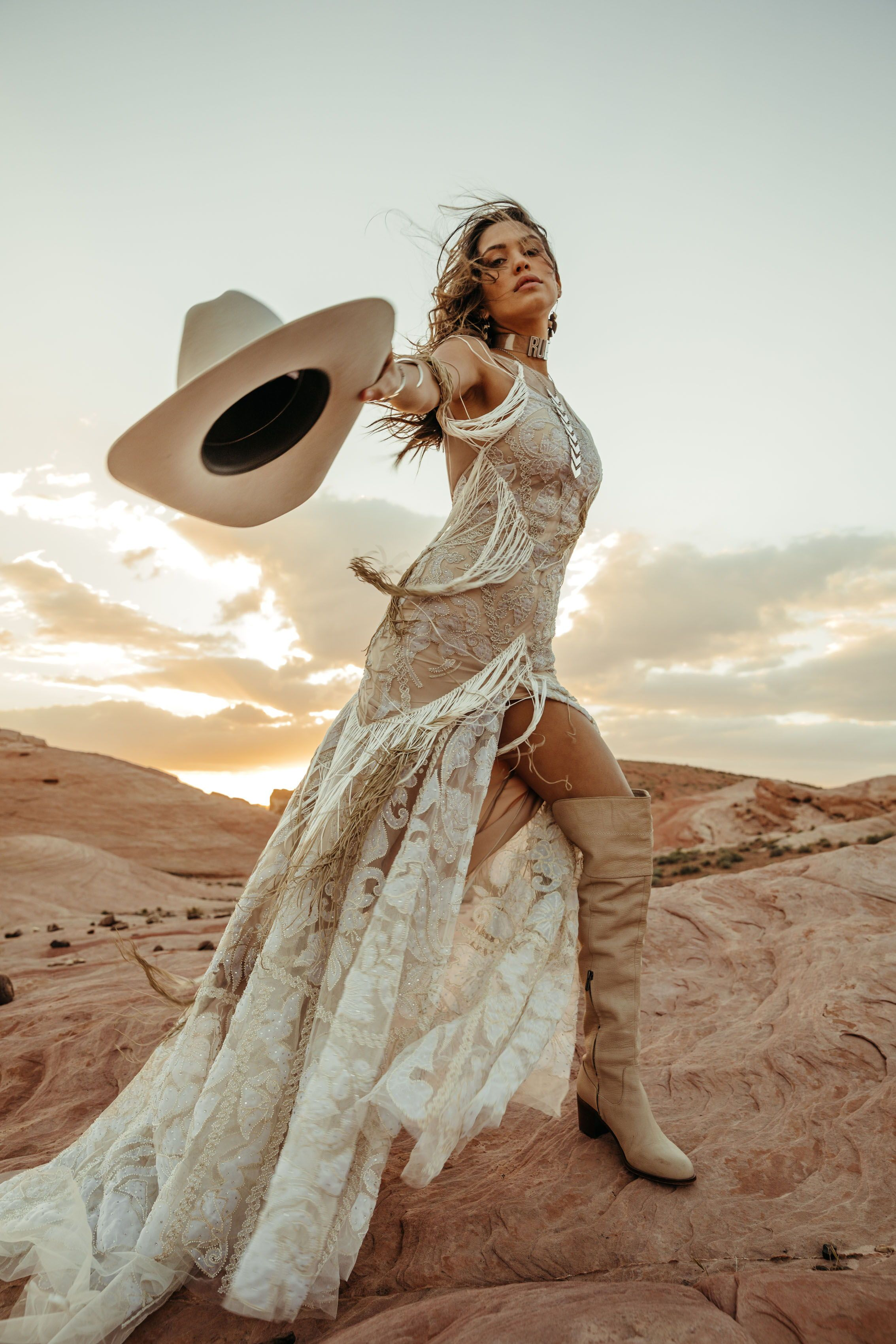 Introducing The New Rue De Seine Collection Golden Rhapsody A Be Bridal Shop Boho Photoshoot Western Fashion Western Wedding Dresses