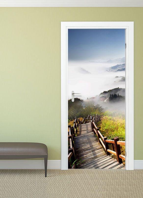 f r wander und naturliebhaber natur bild t rbild fr hling wanddeko f r wohnzimmer. Black Bedroom Furniture Sets. Home Design Ideas