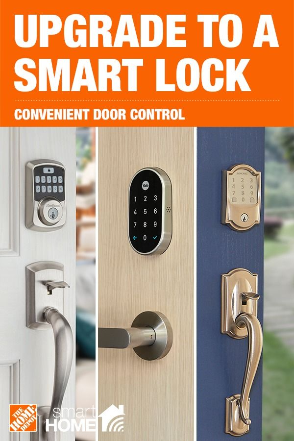 High Tech Smart Locks At The Home Depot Do A Lot More Than Keep Your Home Safe Make Your Life More Conveni Smart Home Security Smart Home Home Depot