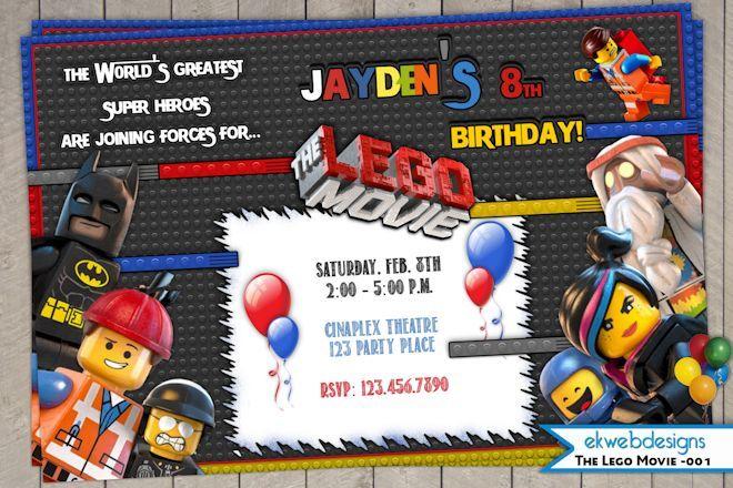 The lego movie birthday invitation printable file printable the lego movie birthday invitation printable file stopboris Choice Image