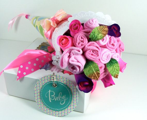 how to make baby blanket bouquet
