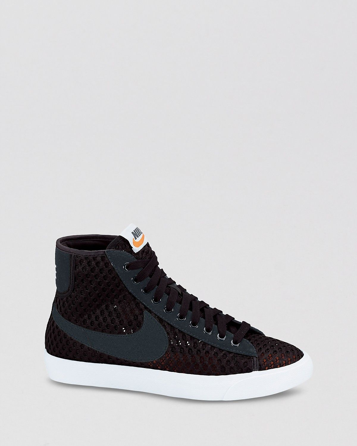 nike blazer mid mesh high-top sneaker with crystal studs