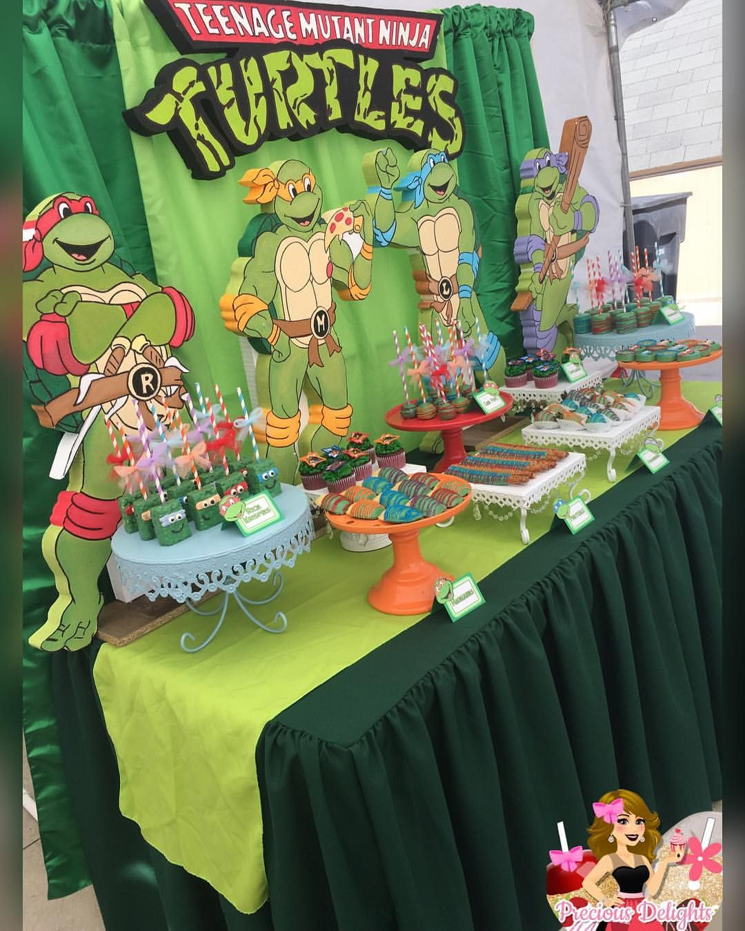 180 Likes 14 Comments Jessica Preciousdelights On Instagram Ninja Turtles Dessert T Tmnt Birthday Ninja Turtles Birthday Party Ninja Turtle Birthday
