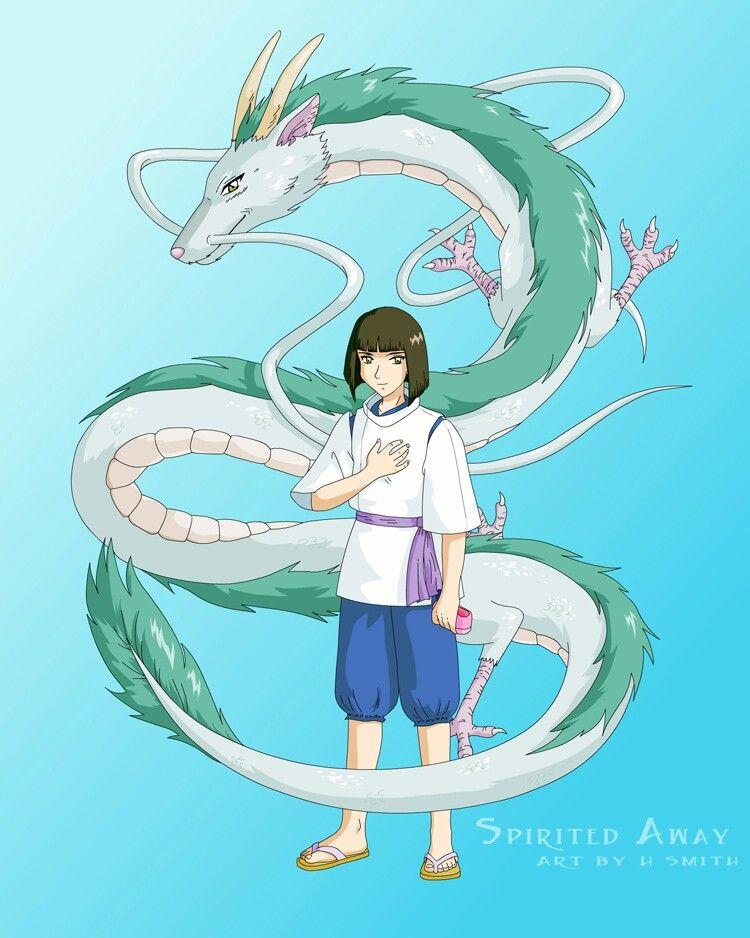 Haku Le Voyage De Chihiro : voyage, chihiro, Spirited, D'ecran, Dessin,, Voyage, Chihiro,, Dessins, Mignons