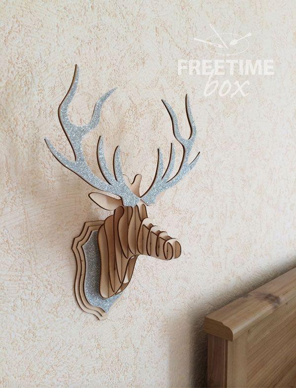 tuto tete de cerf avec paillettes argent es tuto de doroth e pour freetime box box 1. Black Bedroom Furniture Sets. Home Design Ideas