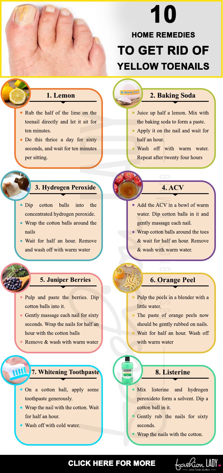 13 Home Remedies To Get Rid Of Yellow Toenails   Home Remedies ...
