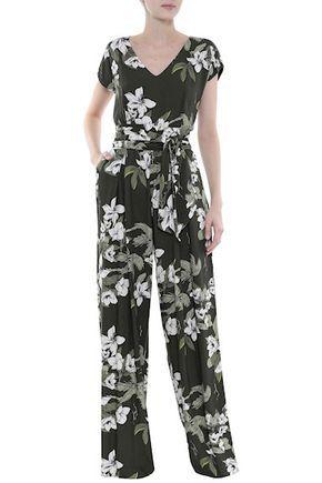 839577f22 Macacão Feminino - Macacão Longo Viscose Floral