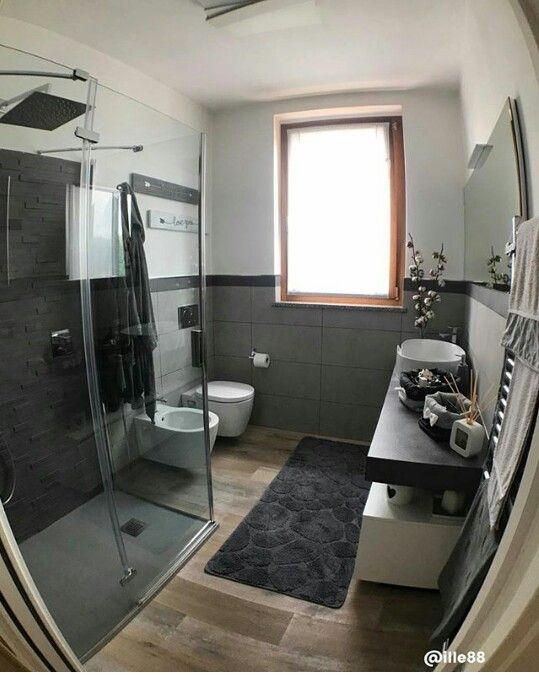 Bellissimo bagno moderno sui toni del grigio fonte ille_88  H O G A R  Interiores modernos