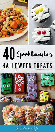 40 Spooktacular Halloween Treats Dessert Recipes Pinterest - halloween treat ideas for school parties
