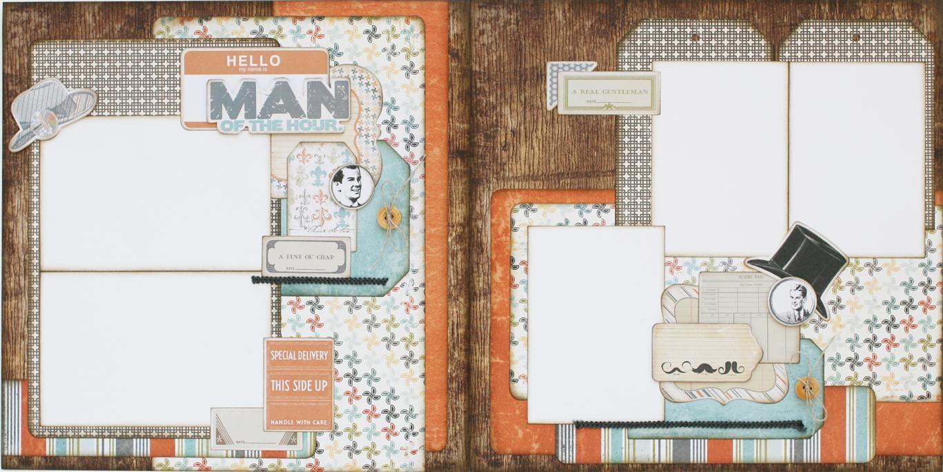 great masculine page layout www.paisleysandpolkadots.com  #fancypants #scrapbook layouts #scrapbooking #masculinelayouts