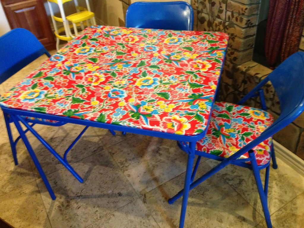 Craft A New Crafting Table Upcycle Yucky Old Card Table Card Table Makeover Card Table And Chairs Card Table Redo