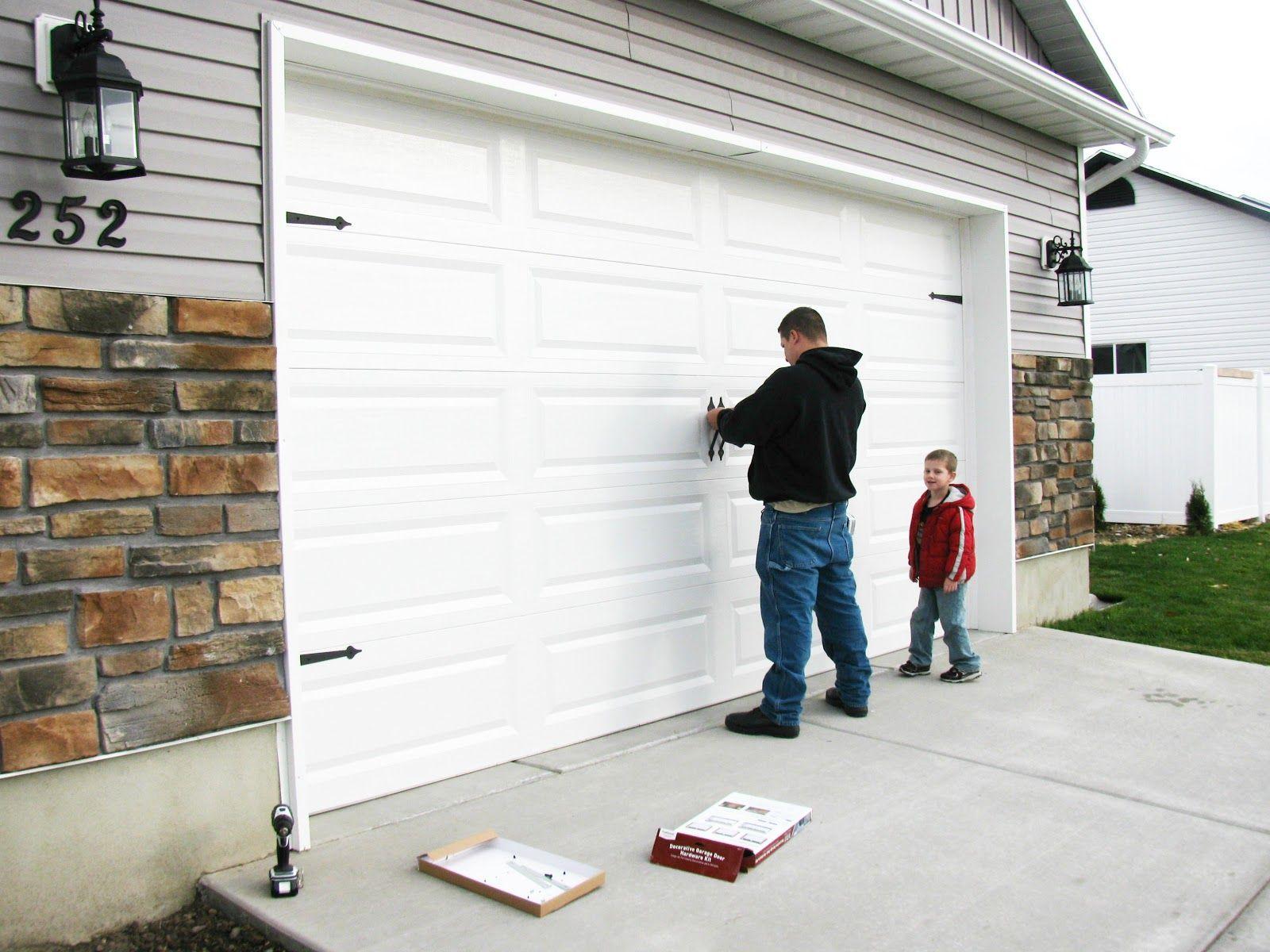 Garage door accents - Explore Garage Door Makeover And More