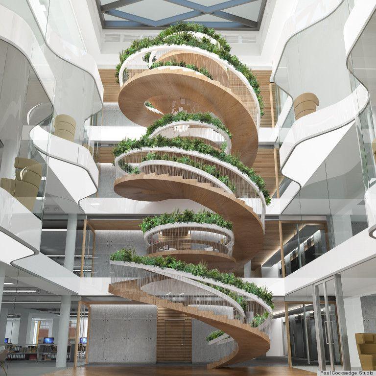 Incredible Spiral Staircase Garden