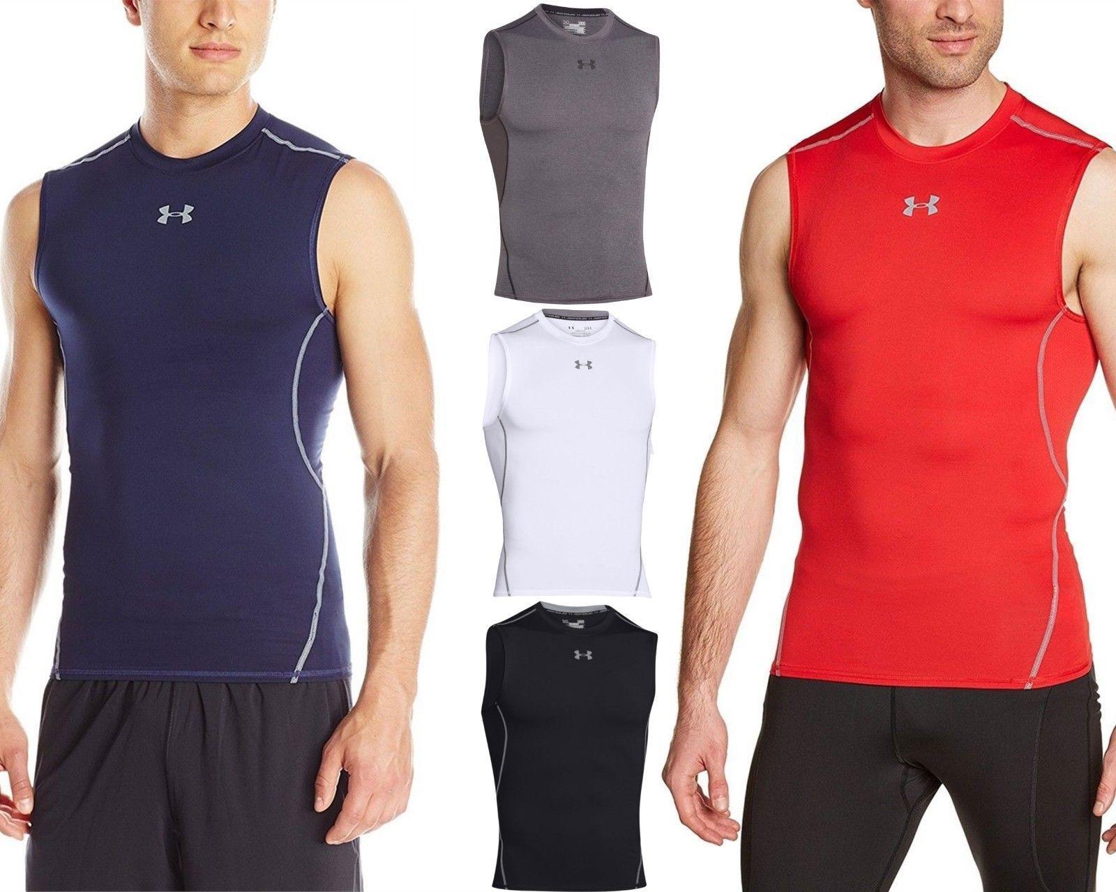9ed180a0d3dee3 Under Armour Men NEW HeatGear Sleeveless UPF 30+ Compression Tee Tank Top  Shirt  Armour