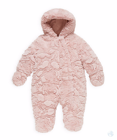 9f27e235ffc0 Mothercare - Girls Pink Fluffy Wadded Snowsuit