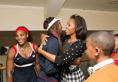Image result for williams sisters with obama