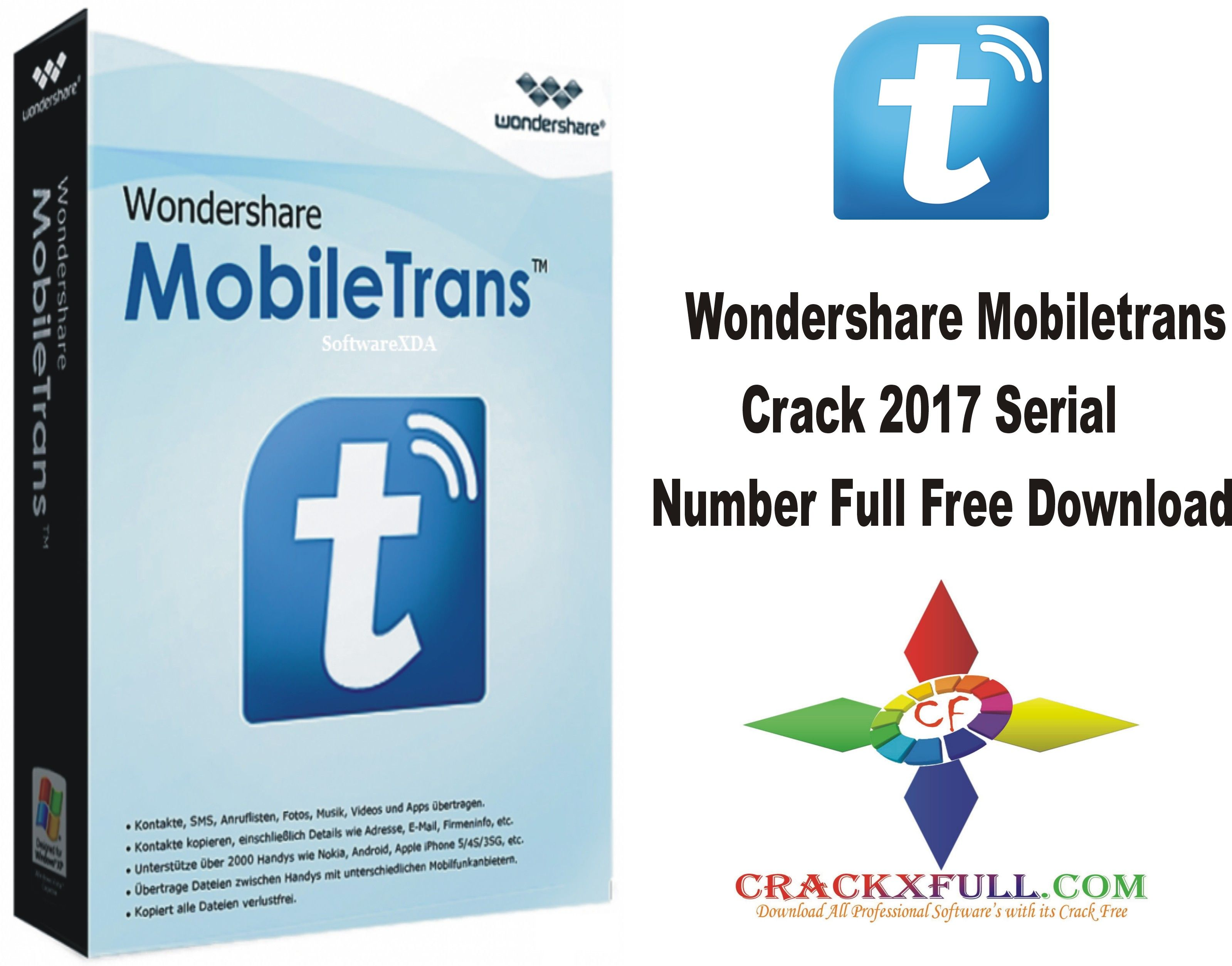 Wondershare Mobiletrans Crack 2017 Serial Number Full Free Download ...