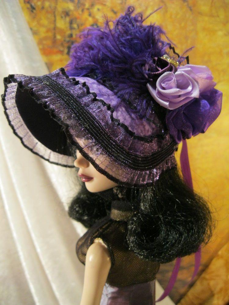 *Love Lavender A Doll Bonnet Fits Evangeline Ghastly and Ellowyne Wilde | eBay | by Peggy Feltrope