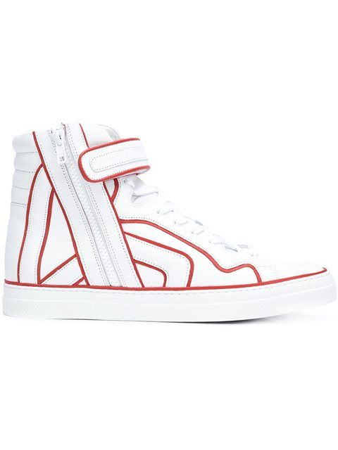 PIERRE HARDY 'Match' Hi-Top Sneakers. #pierrehardy #shoes #sneakers