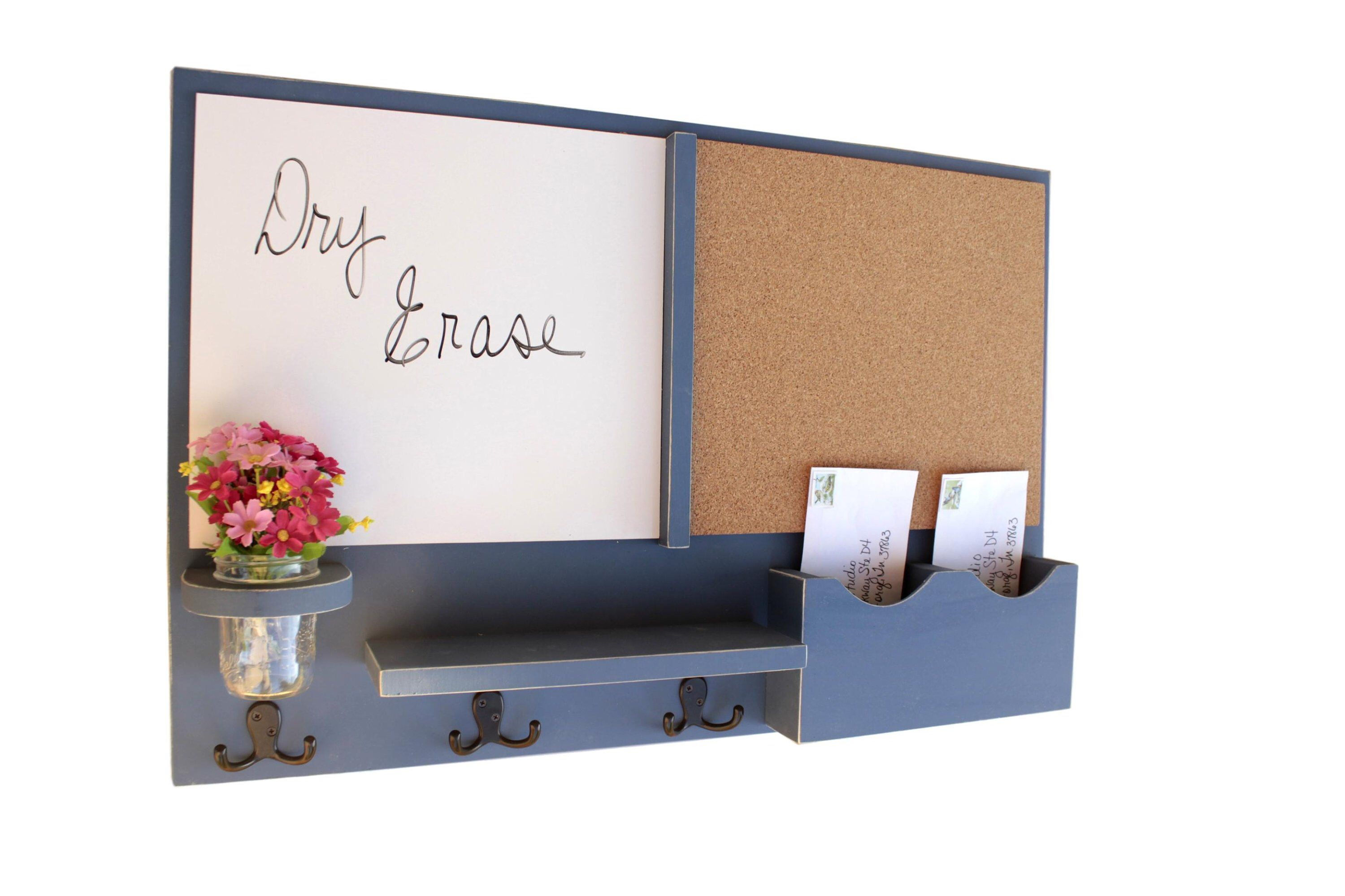 Mail organizer message center whiteboard dry erase board