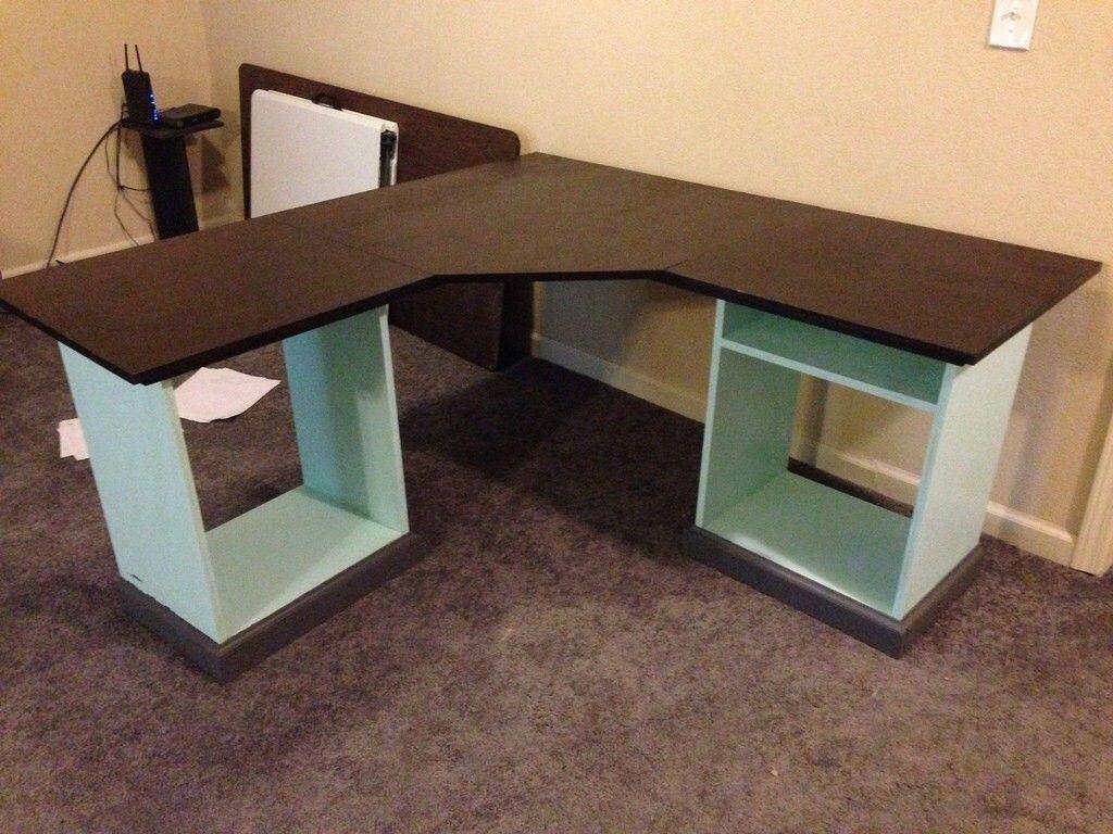 Diy L Shaped Desk L Shaped Corner Desk Diy Office Desk Diy