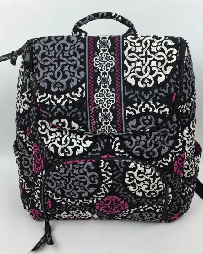 Vera Bradley Double Zip Backpack in Canterberry Magenta Exact Item Fast  Shipping   eBay fa5fa5a8c0