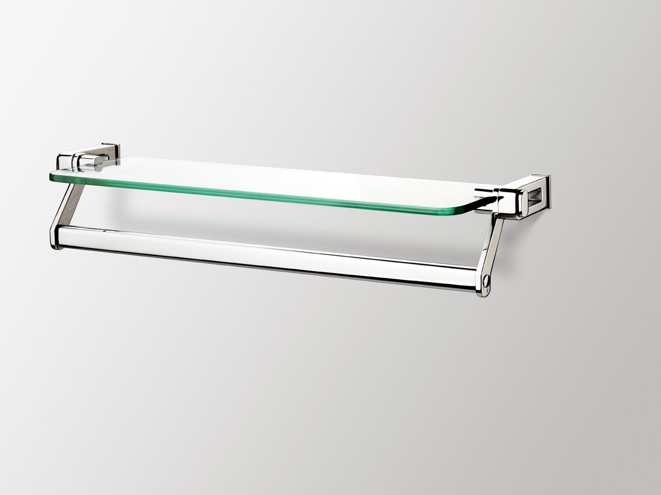 Sonia nakar glass shelf with towel 1 306 979 for Bathroom glass shelves