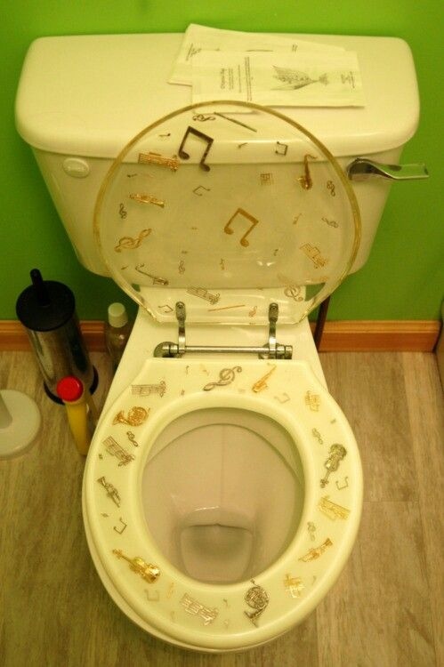 You Would Probably Find Guests Examining Your Toilet Seat Before Even  Sitting Down! #piano · Music DecorMusical ...