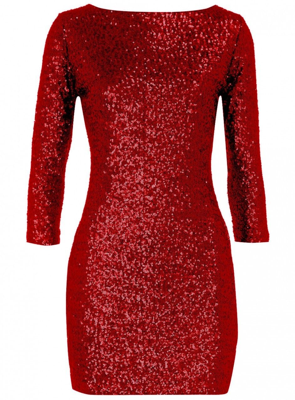 Sequin red dress plus size