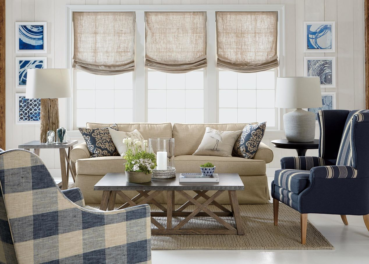 Marina sofa sofas u loveseats clean and classic navy and white
