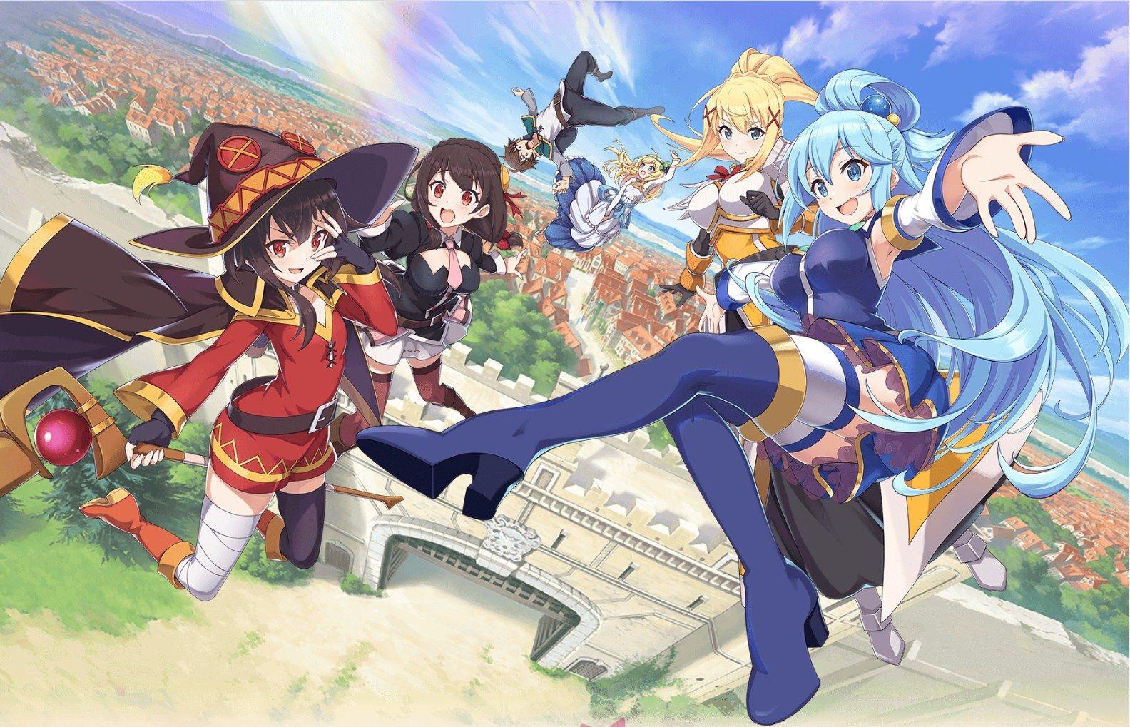KonoSuba Fantastic Days Mobile game out in Japan en