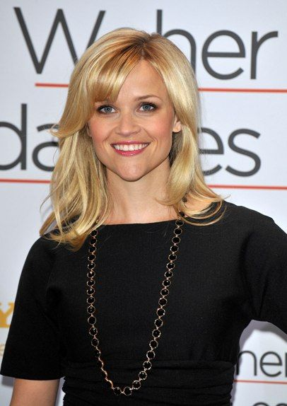 Reese Witherspoons blonde hairstyle with bangs http://www.likefragrance.com/lhomme-for-men-by-yves-saint-laurent-gift-set.html