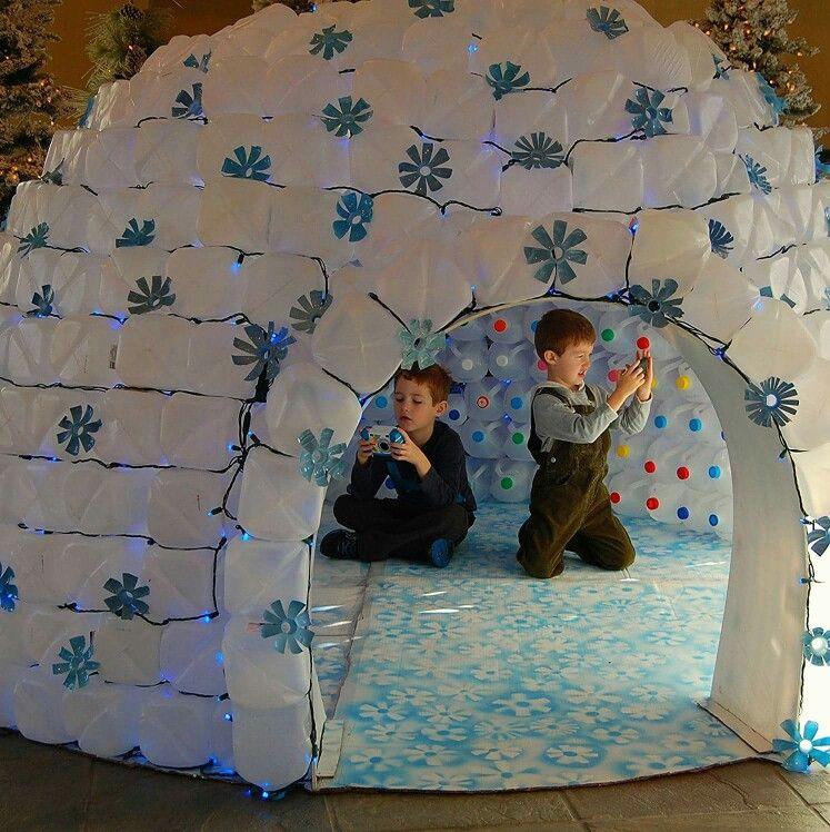 Milk Jug Igloo Creation De Noel Noel Bleu Deco Noel