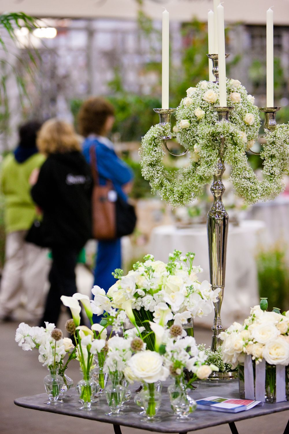 White table decoration at New Covent Garden Flower Market | MY ...