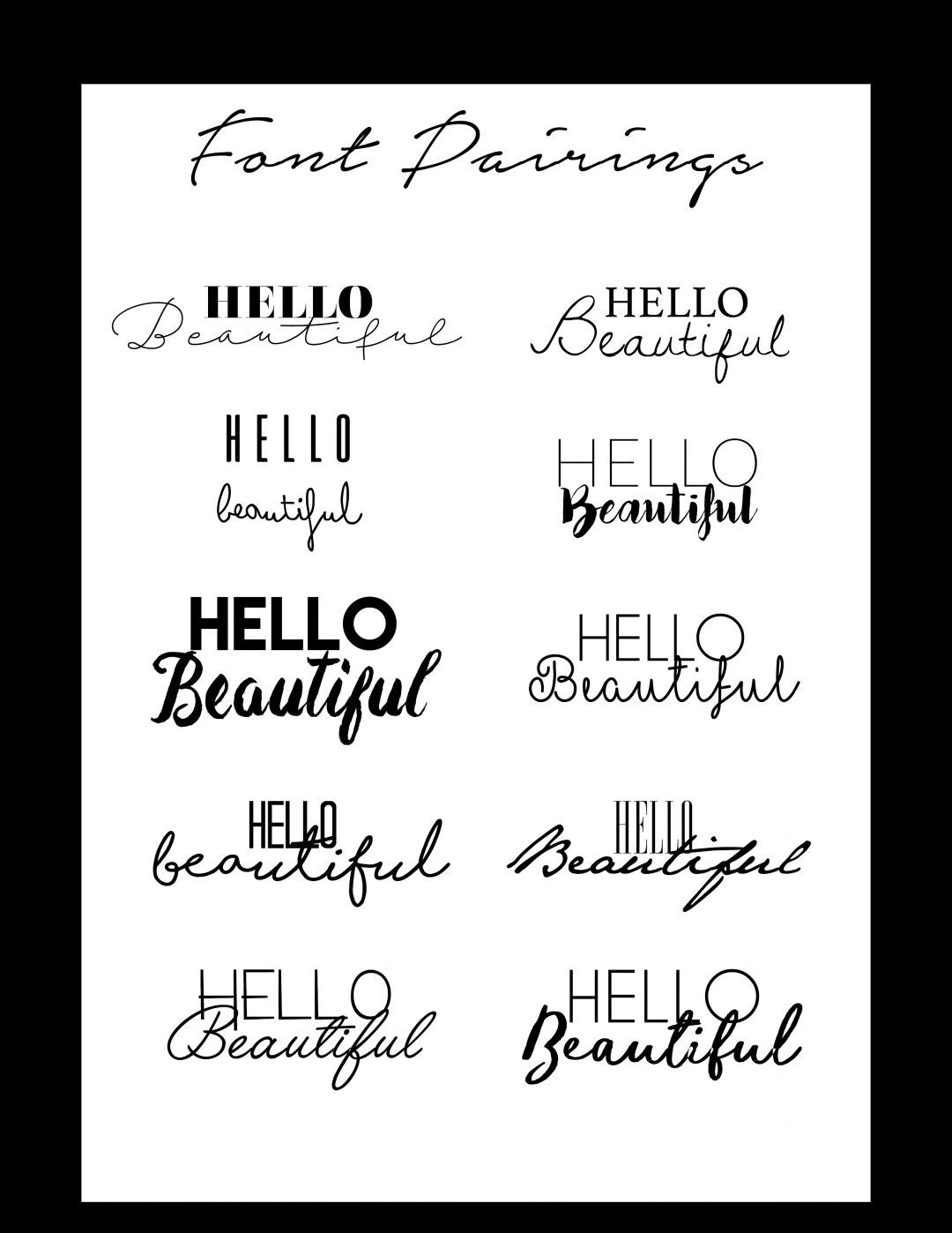 Font Pairings Beautiful