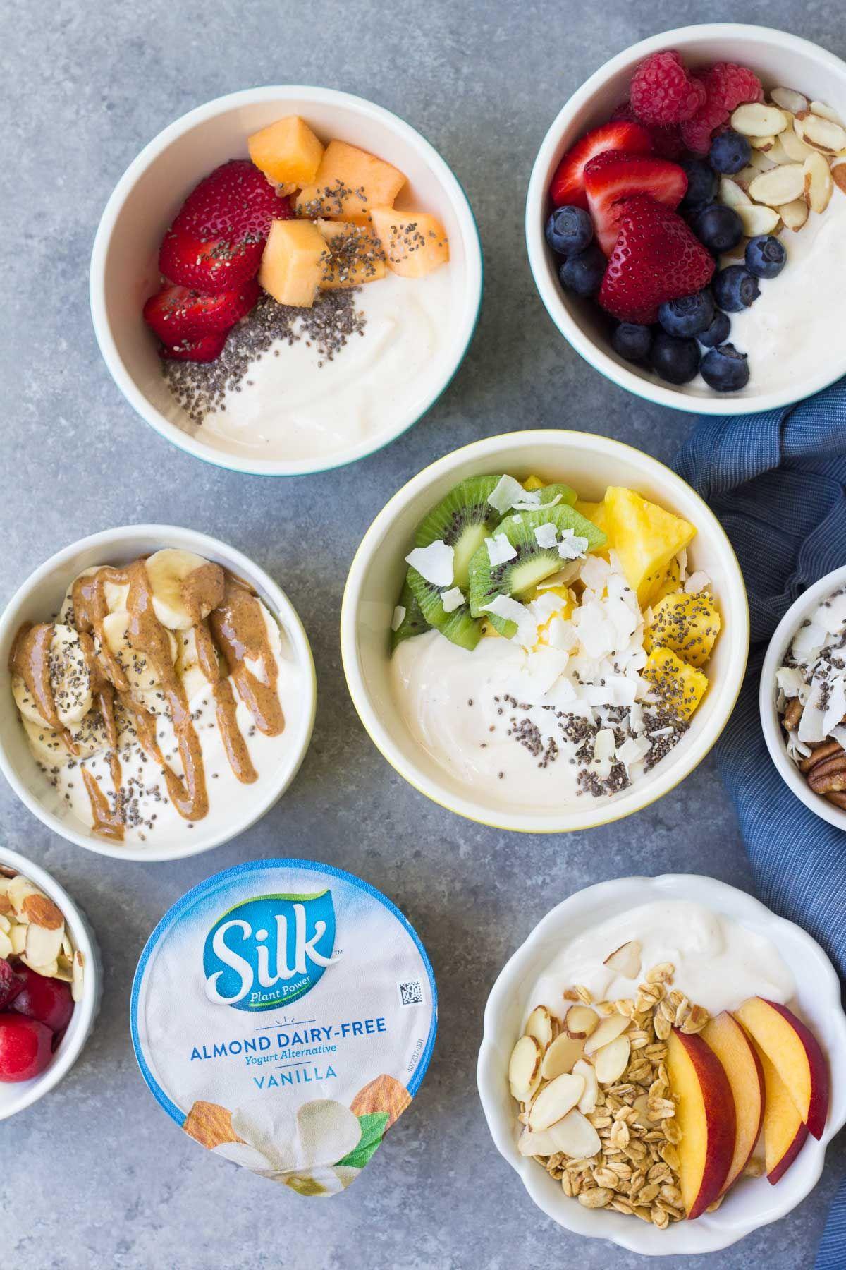 Dairy free yogurt breakfast bowls 7 ways a quick easy