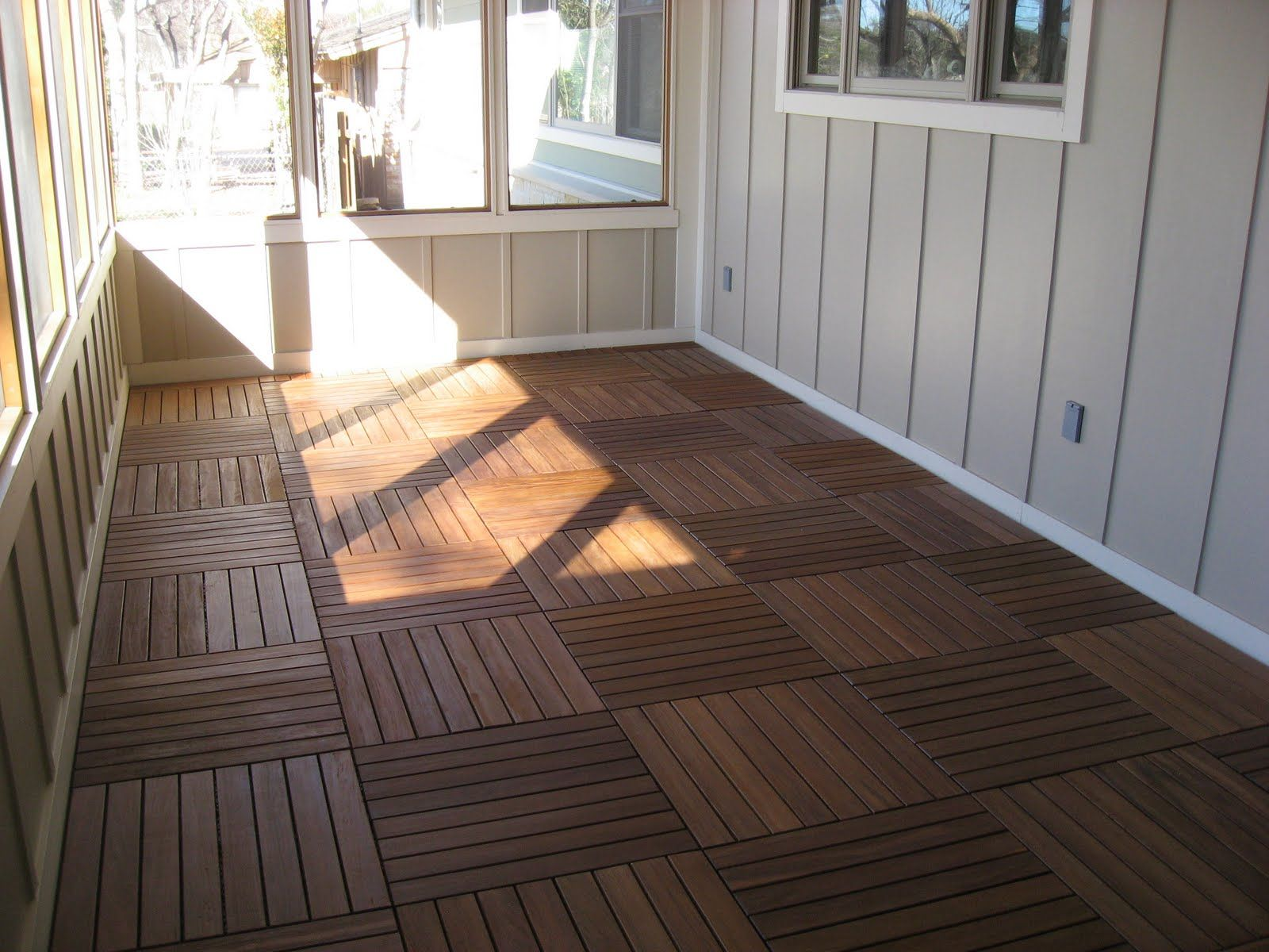 Screen porch flooring ideas just for a minute though for Indoor outdoor flooring options