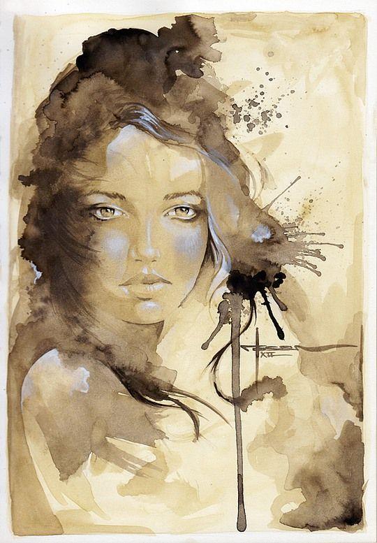 Célèbre Beautiful Watercolor Paintings by Mekhz | Art Portraits  VN48