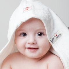 'Bubbler' Baby-Kapuzentuch mit Sternen creme 90cm