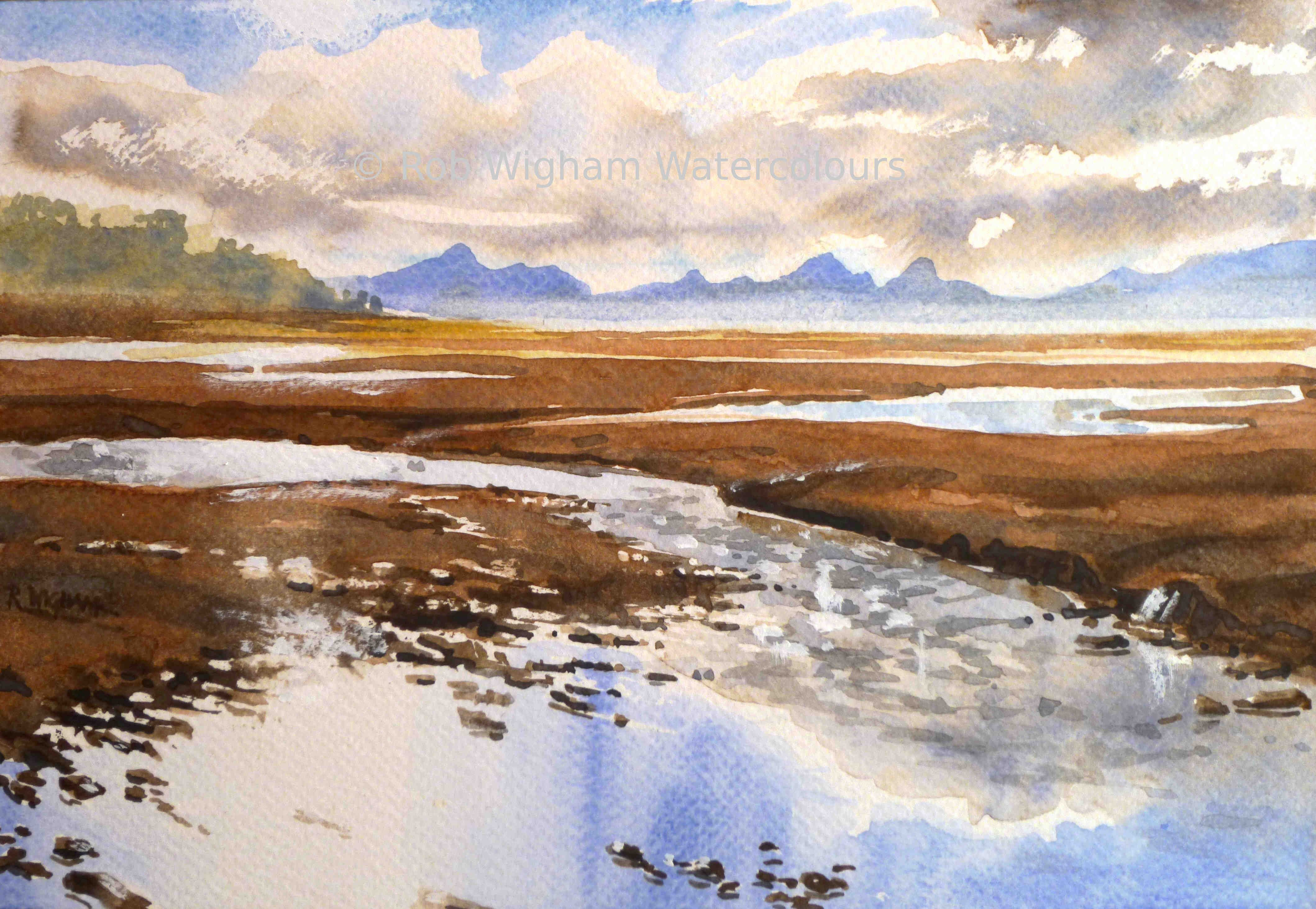 This Little Watercolour Shows The View From The Applecross