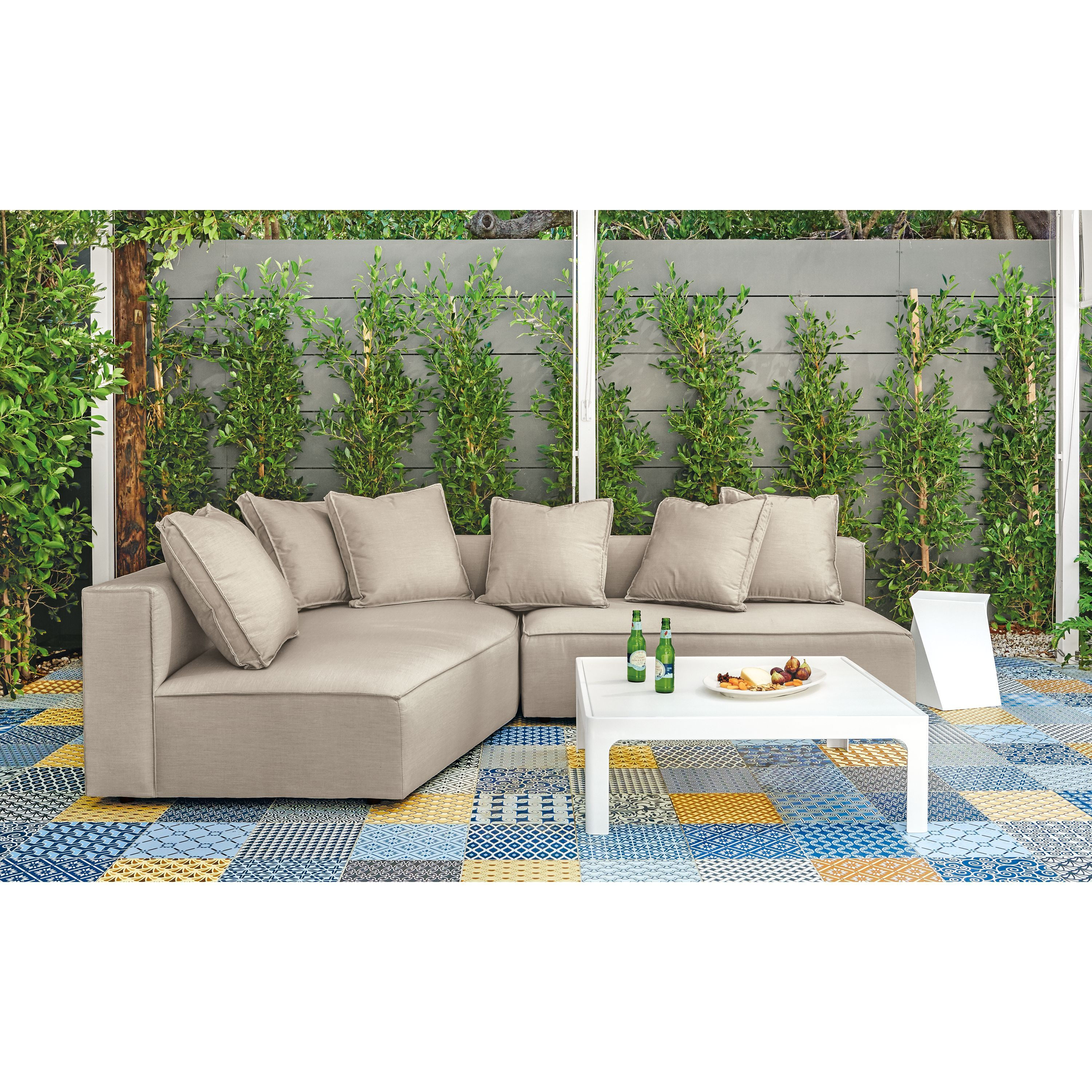 Oasis Sectional Pieces Modern Outdoor Sofas Sectionals