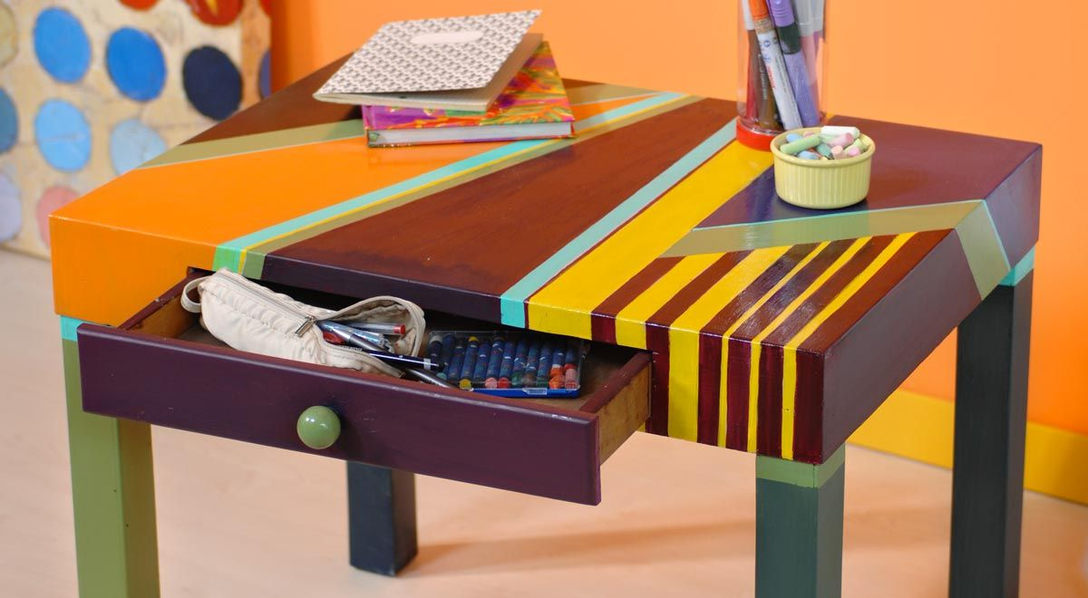 Verniciare Un Tavolo Di Legno come verniciare un tavolo di legno in modo creativo | tavoli