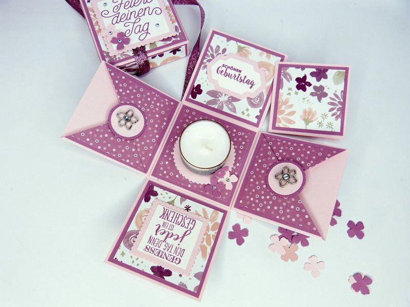 geschenke f r frauen explosionsbox magic box zum geburtstag. Black Bedroom Furniture Sets. Home Design Ideas
