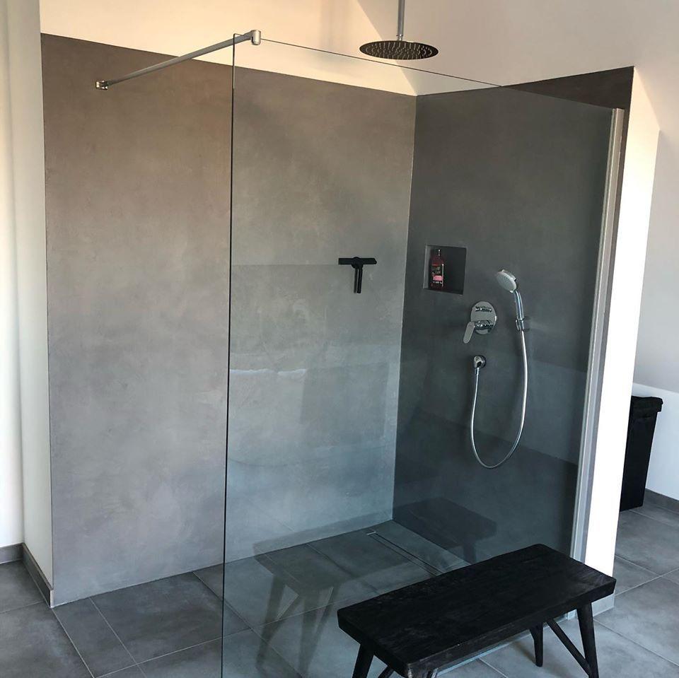 Fugenlose Dusch Ideen In 2020 Badezimmer Verputzen Badezimmer Umbau Bad Wand