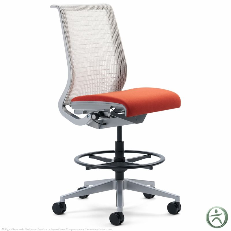 Steelcase Think Drafting Stool W 3d Knit Back With Images